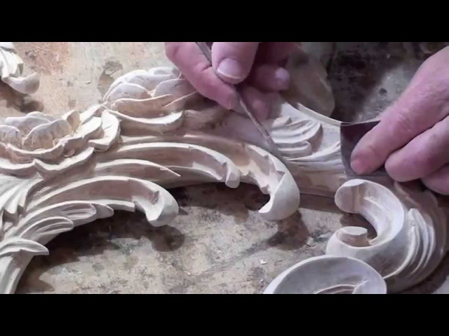Wood carved Rococo Ornament