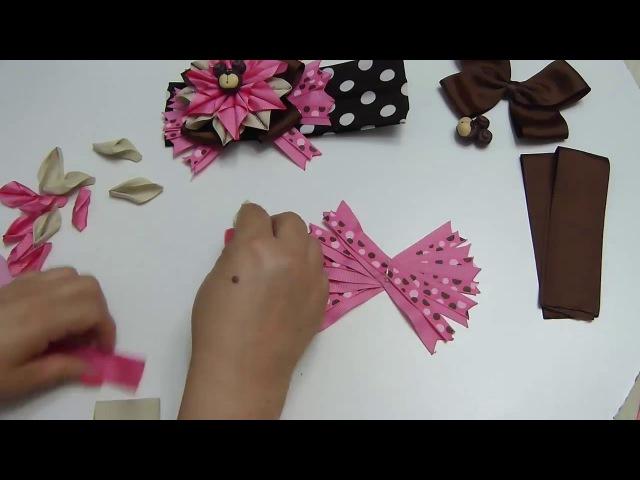 Como hacer Flor puntas con cinta🌼🎀lindo moños ,cabello Niñas, Tutorial, Lazos, balacas🎀🌸