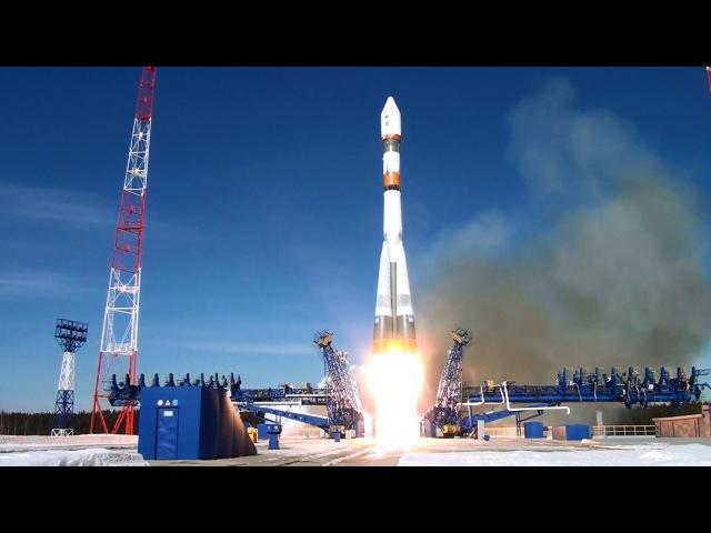 Запуск космического аппарата с космодрома Плесецк ракетой-носителем «Союз-2»