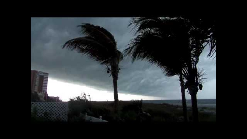 Breathtakingly beautiful shelf clouds during a fearsome storm in Florida