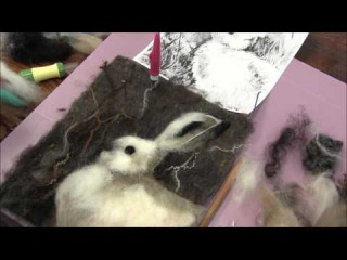 Needle Felted 2D Snowshoe Hare Part Three: Face and Finishing Detail