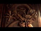 Нарды деревянные, резные, дракон, резьба по дереву