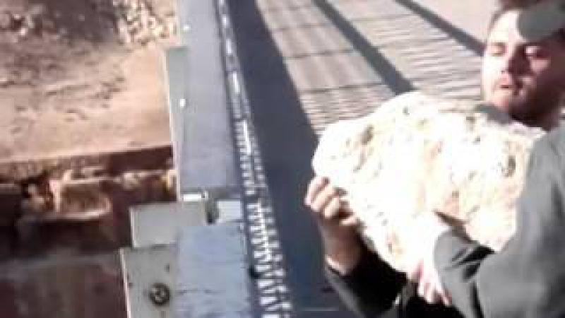 Бросили камень в реку с высоты 140 метров