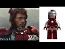 Lego Iron Man minifigures vs Iron Man Suits movie