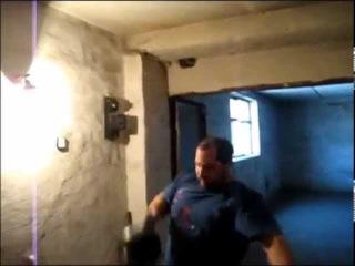 50кг гиря-рывковая протяжка в стойку вверх дном. 50kg kettlebell bottom up dead muscle snatch.