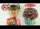 Поделки своими руками DIY - декорируем пирожное копилка Melissa & Doug. Детский канал Victoria Play.
