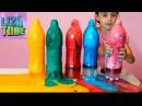 Делаем фонтан из цветной пены Детские ОПЫТЫ и эксперименты от канала lizatube