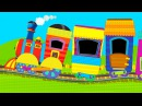 TRAINS AND CARS FOR KIDS: PowerTrains and Racing Car. Train and Cars for Kids Toys Review Cartoon