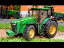 Мультик про машинки. Трактор, экскаватор и кран собирают грибы. Мультики для детей