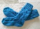 Обалденные вязаные спицами носки с косами и удлиненной голенью! Мастер-класс. Часть 1.
