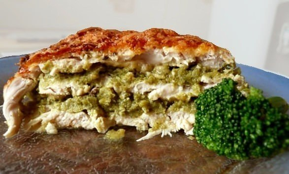 Пирог из курицы и брокколи