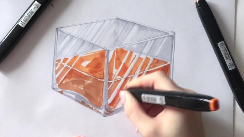 Как рисовать на стекле маркером