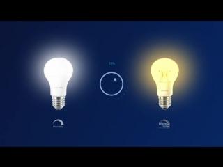 Как изменять яркость света при использовании светодиодных ламп. (Philips)