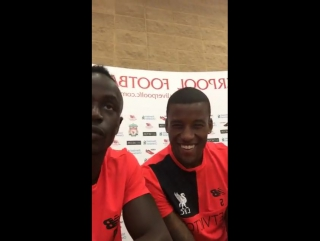 LIVE: At Melwood with Sadio Mané, Roberto Firmino & Gini Wijnaldum
