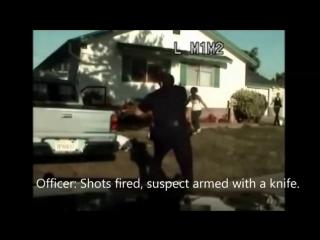 застрелили прямо у себя на крыльце или как работает полиция США ч.3