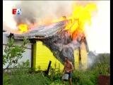 На улице Рабочей в посёлке Шайтанка в один миг стало жарко. Там разгорелась двухэтажная постройка.