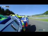 Валентино Росси на утренней разминке Гран-При Австрии