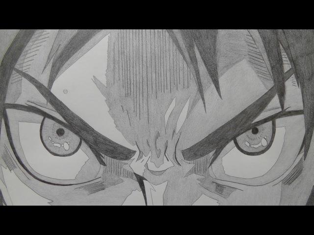 【パラパラ漫画】シャーペンで進撃の巨人OP描いてみた (完全版・423枚)drew attack on