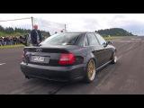 1000HP+ Audi S4 B5 Anti-Lag Sound! Flames &amp Accelerations!