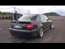 1000HP Audi S4 B5 Anti-Lag Sound! Flames Accelerations!