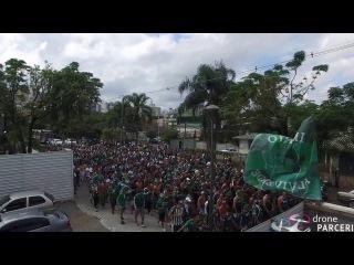 Torcida do Coritiba filmagem com drone