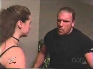 Stephanie and Triple h argue backstage