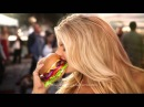 Charlotte McKinney Carls Jr Ad Commercial Super Bowl XLIX 2015 The All Natural Burger