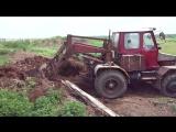 трактор самодельный рабочий момент № 3 без базара