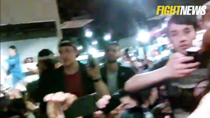Беспредел на встрече Хабиба Нурмагомедова с фанатами в магазине Reebok
