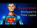 Superman Bodypaint Time Lapse