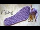 ♥ Как связать подошву крючком Подошва для тапочек How to crochet a shoe sole