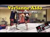 Vivianne Aldo (Jose Aldo's Wife) Shows Hard Kicks In Striking Training