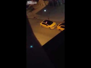 LiveLeak com 2 guys beat up a transsexual woman in the street