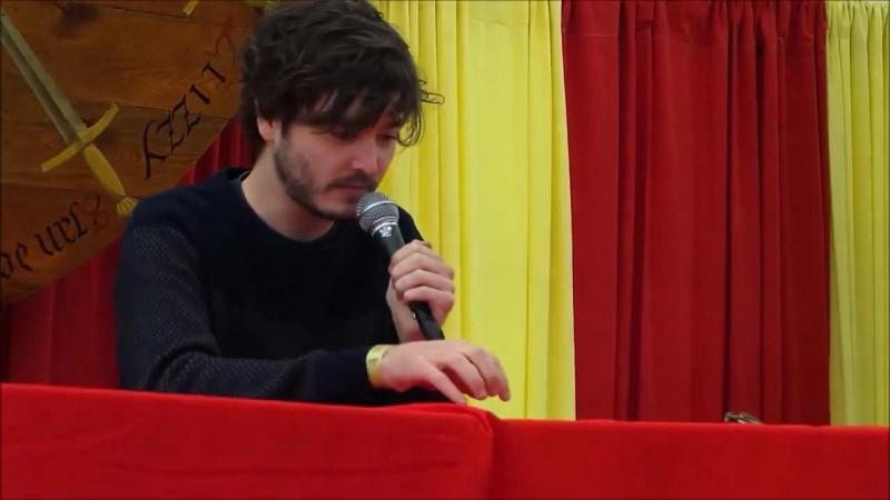 Alexander Vlahos Алекс Влахос на Elf Fantasy Fair (Elfia, 19-04-2014) Часть 2, рус.суб.