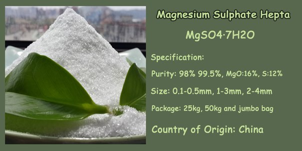 Magnesium Sulphate Heptahydrate, size: 0.1-0.5mm, 1-3mm, 2-4mm