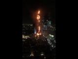 В Дубае в небоскребе-отеле пожар