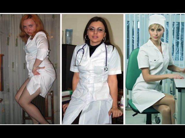 Сестрички - медсестрички. Белые халаты им определенно к лицу.