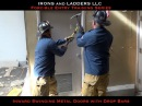 Inward Swinging Metal Door w Drop Bars - IRONS and LADDERS