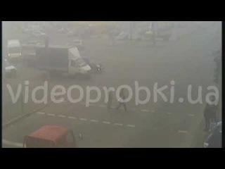 ДТП в Киеве: Daewoo Lanos vs Mercedes C180