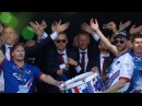 Amazing! Iceland fans together with national team celebrates with Viking war chant
