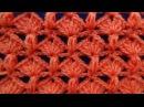 Punto tejido a crochet combinacion de abanicos con puntos garbanzos paso a paso