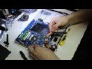 101 Как разобрать любой ноутбук Samsung NP300E5A не включается, замена гнезда питания.