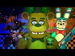 Five Nights at Freddy's 1, 2 3 Music (FNAF SFM 4K)