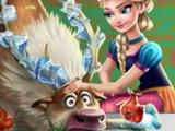 Холодное сердце! Игра Лечить Свена! Мультик для детей! Онлайн игры бесплатно!