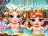 ОНЛАЙН ИГРА Холодное сердце Малышки в ванной БЕСПЛАТНО! Мультик про принцесс!