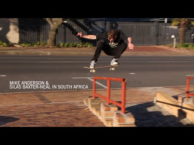 Mike Anderson and Silas Baxter-Neal skating in South Africa
