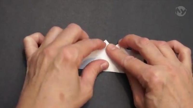 Поделки из бумаги 59 - Оригами. Закладка сердечко