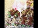 Фруктово-ягодные канапе в шоколаде   Chocolate fruit kabobs