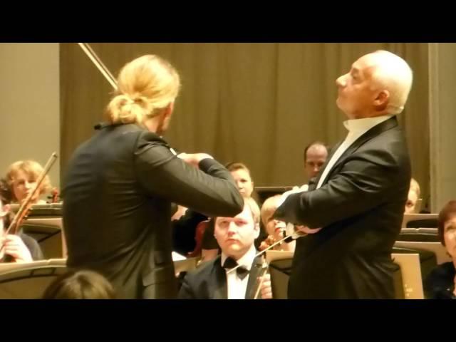 David Garrett J.Brahms - Violin Concerto in D major, Op.77 part 1 (fragment) Moscow, 02.03.2015