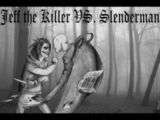 Джефф Убийца против Слендермена -  Первая встреча